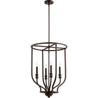 Falbo 4-Light Foyer Pendant Finish: Oiled Bronze