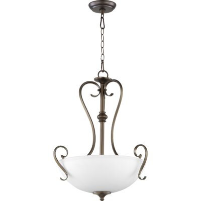 Powell 3-Light Bowl Pendant