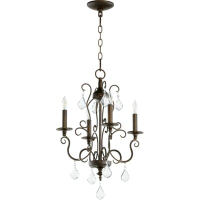 Arial 4-Light Candle-Style Chandelier Finish: Vintage Copper