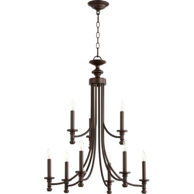 Rossington 9-Light Candle-Style Chandelier Finish: Oiled Bronze
