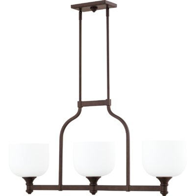 Falbo 3-Light Kitchen Island Pendant Finish: Oiled Bronze