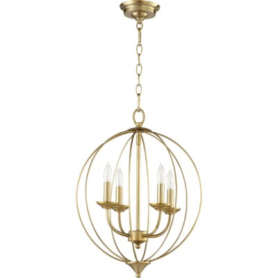 Harnois 4-Light Globe Pendant Finish: Aged Brass