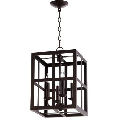 Cuboid II Entry 4-Light Foyer Pendant Finish: Oiled Bronze