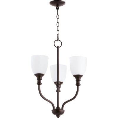 Richmond 3-Light Shaded Chandelier Finish: Oiled Bronze