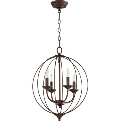 Flora Fall 4-Light Globe Pendant Finish: Oiled Bronze