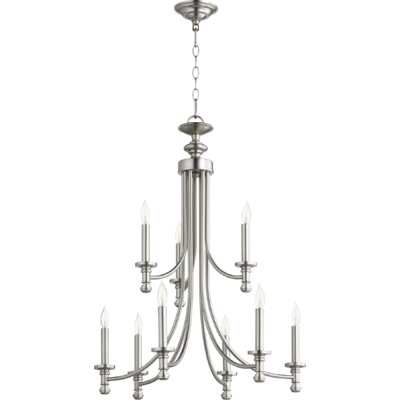 Rossington 9-Light Candle-Style Chandelier Finish: Satin Nickel