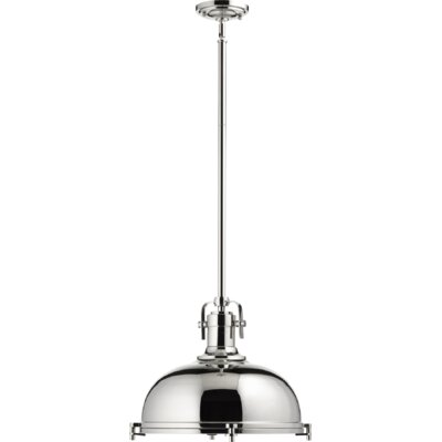 Lighthouse Point 1-Light Bowl Pendant Finish: Polished Nickel