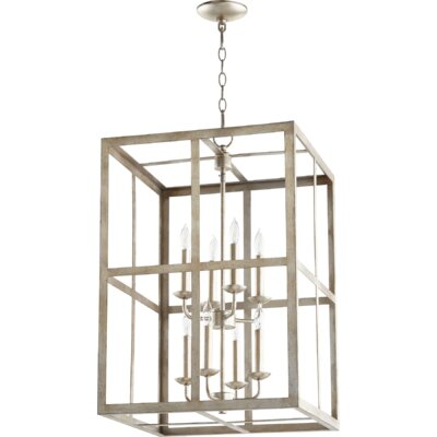 Cubiod II Entry 8-Light Foyer Pendant Finish: Aged Silver Leaf