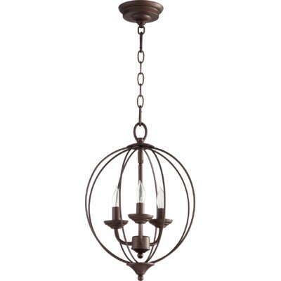 Flora Fall 3-Light Globe Pendant Finish: Oiled Bronze