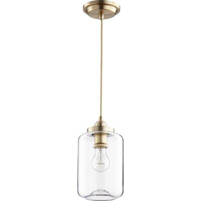Filament 1-Light Mini Pendant Finish: Aged Brass, Size: 10.75 H x 5.75 W