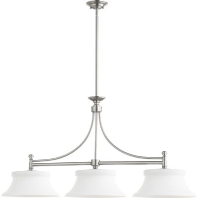 Rossington 3-Light Kitchen Island Pendant Finish: Satin Nickel