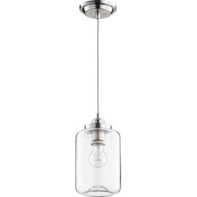 Filament 1-Light Mini Pendant Finish: Satin Nickel, Size: 10.75 H x 5.75 W