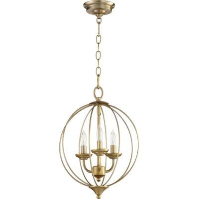Flora Fall 3-Light Globe Pendant Finish: Aged Brass