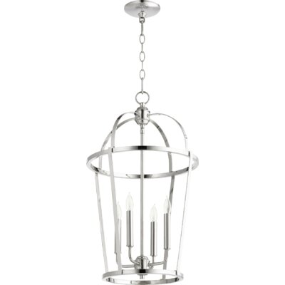 Mitre Entry 4-Light Foyer Pendant Finish: Polished Nickel