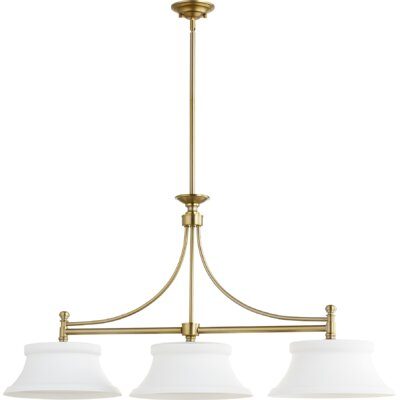 Rossington 3-Light Kitchen Island Pendant Finish: Aged Brass