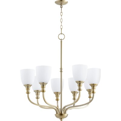 Richmond 8-Light Shaded Chandelier Finish: Aged Brass
