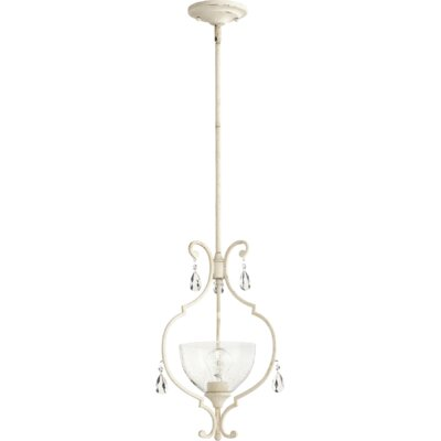 Ansley 1-Light Geometric Pendant Finish: Persian White