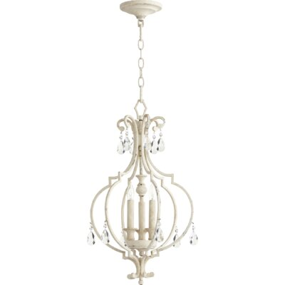 Ansley Entry 3-Light Foyer Pendant Finish: Persian White