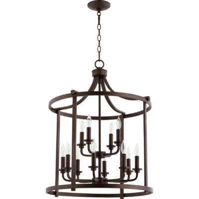 Lancaster Entry 12-Light Foyer Pendant Finish: Oiled Bronze
