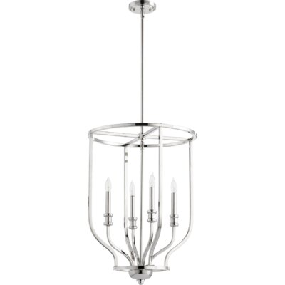 Falbo 4-Light Foyer Pendant Finish: Polished Nickel