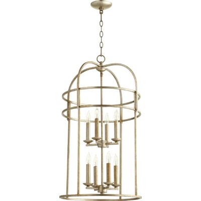Toque Entry 8-Light Foyer Pendant Finish: Aged Silver Leaf