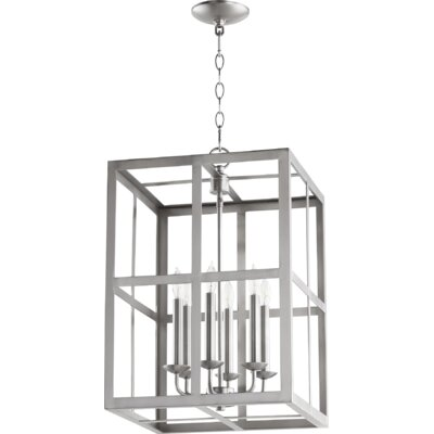 Cuboid II Entry 6-Light Foyer Pendant Finish: Satin Nickel