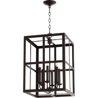 Cuboid II Entry 6-Light Foyer Pendant Finish: Oiled Bronze