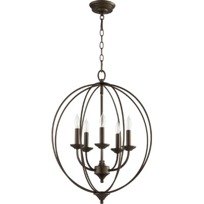 Flora Fall 5-Light Globe Pendant Finish: Oiled Bronze