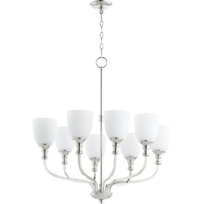 Richmond 8-Light Shaded Chandelier Finish: Polished Nickel