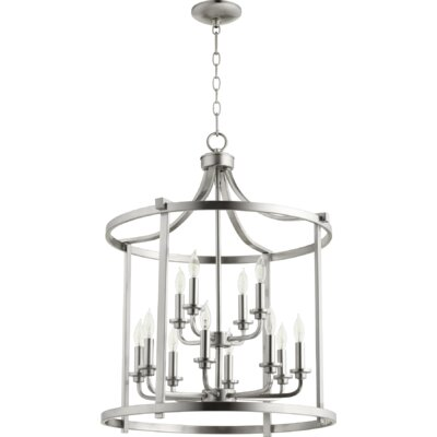 Lancaster Entry 12-Light Foyer Pendant Finish: Satin Nickel