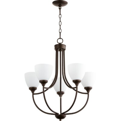 Enclave 5-Light Shaded Chandelier Finish: Oiled Bronze