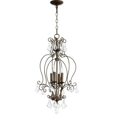 Ariel 4-Light Candle-Style Chandelier Finish: Vintage Copper
