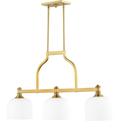 Falbo 3-Light Kitchen Island Pendant Finish: Aged Brass