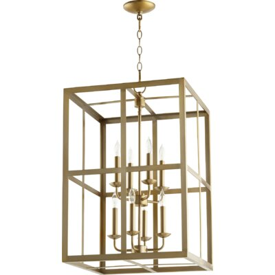 Cubiod II Entry 8-Light Foyer Pendant Finish: Aged Brass