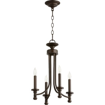 Rossington 4-Light Candle-Style Chandelier Finish: Oiled Bronze