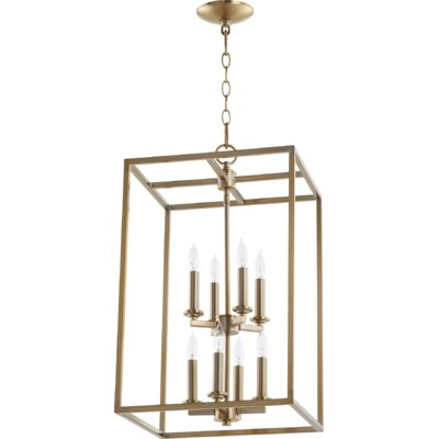 Cuboid Entry 8-Light Foyer Pendant Finish: Aged Brass