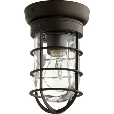 Bowery 1-Light Flush Mount Finish: Oiled Bronze