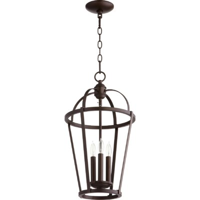 Mitre Entry 3-Light Foyer Pendant Finish: Oiled Bronze