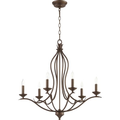 Harnois 6-Light Candle-Style Chandelier Finish: Oiled Bronze