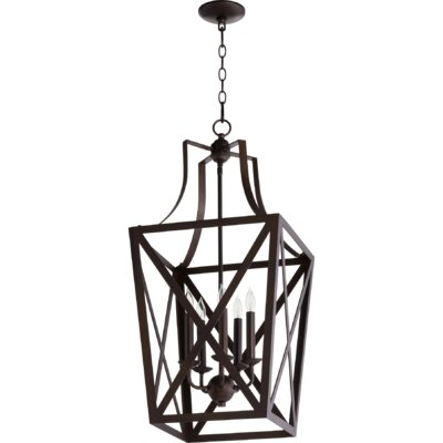 Trap Entry 5-Light Foyer Pendant Finish: Oiled Bronze