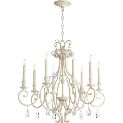 Ansley 8-Light Candle-Style Chandelier Finish: Persian White