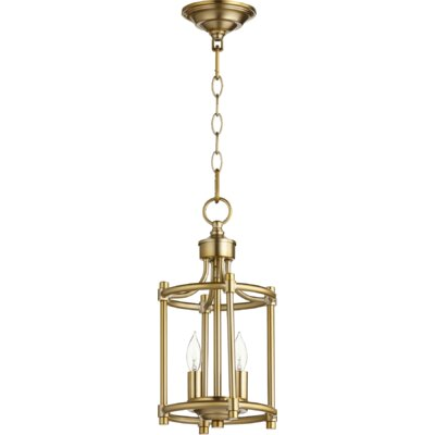 Rossington Entry 2-Light Foyer Pendant Finish: Aged Brass