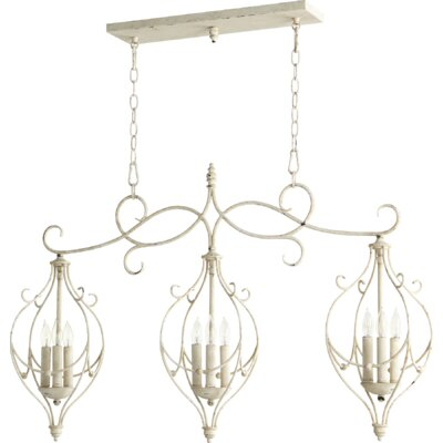 Ariel 9-Light Kitchen Island Pendant Finish: Persian White