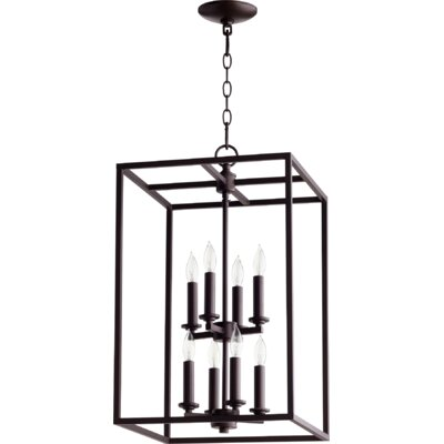 Cuboid Entry 8-Light Foyer Pendant Finish: Oiled Bronze