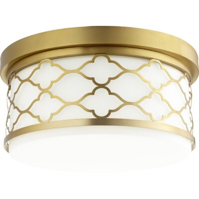 Trellis 3-Light Flush Mount Finish: Aged Brass