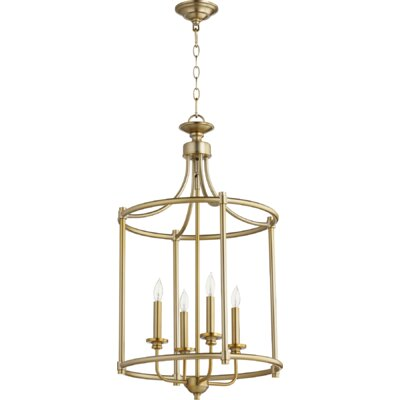 Rossington Entry 4-Light Foyer Pendant Finish: Aged Brass