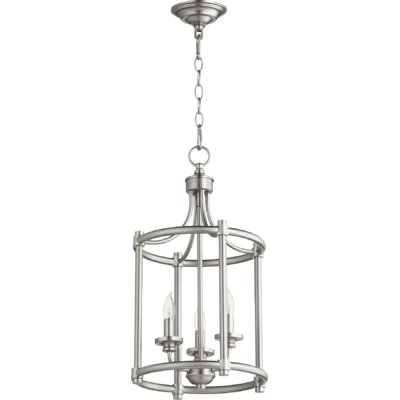 Rossington Entry 3-Light Foyer Pendant Finish: Satin Nickel