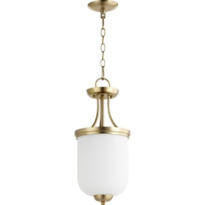 Enclave 2-Light Mini Pendant Finish: Aged Brass