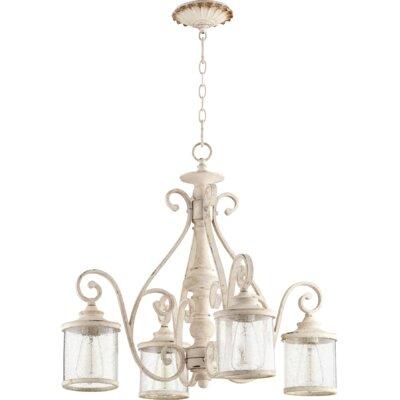 San Miguel 4-Light Shaded Chandelier Finish: Persian White