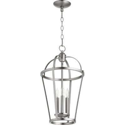 Mitre Entry 3-Light Foyer Pendant Finish: Satin Nickel